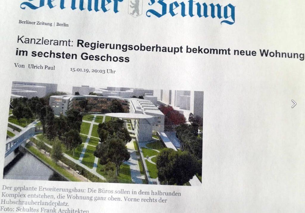 Artikel über die Erweiterung des Bundeskanzleramts