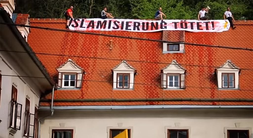 IB-Aktivisten stiegen den Grünen aufs Dach