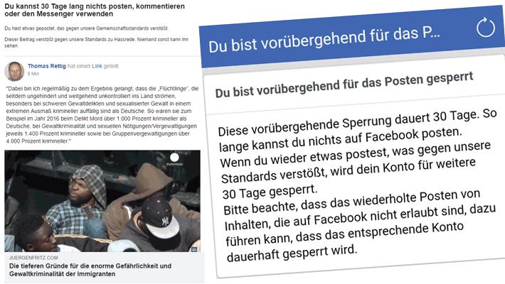 Ab 2. November 2018 war ich bei Facebook zum zweiten Mal für 30 Tage gesperrt.