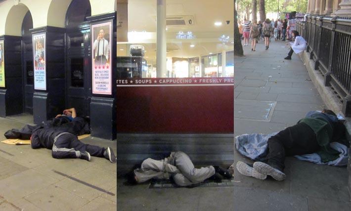 Migration schafft Armut - wie hier in London.