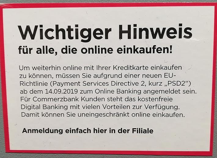 Eine der EU-Richtlinien zur Abschaffung des Bargelds